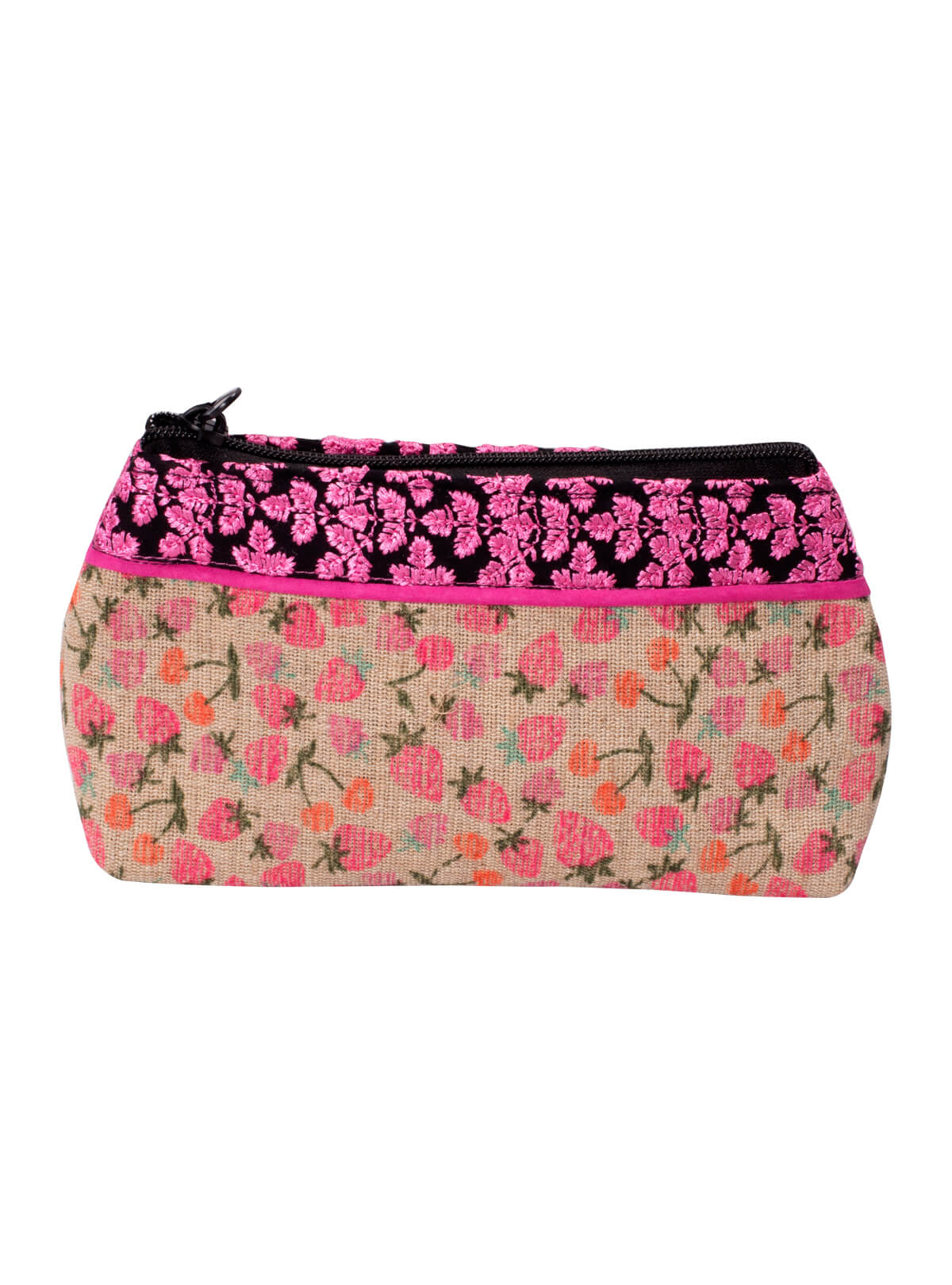 Pink & Ash Cotton Ladies Purse