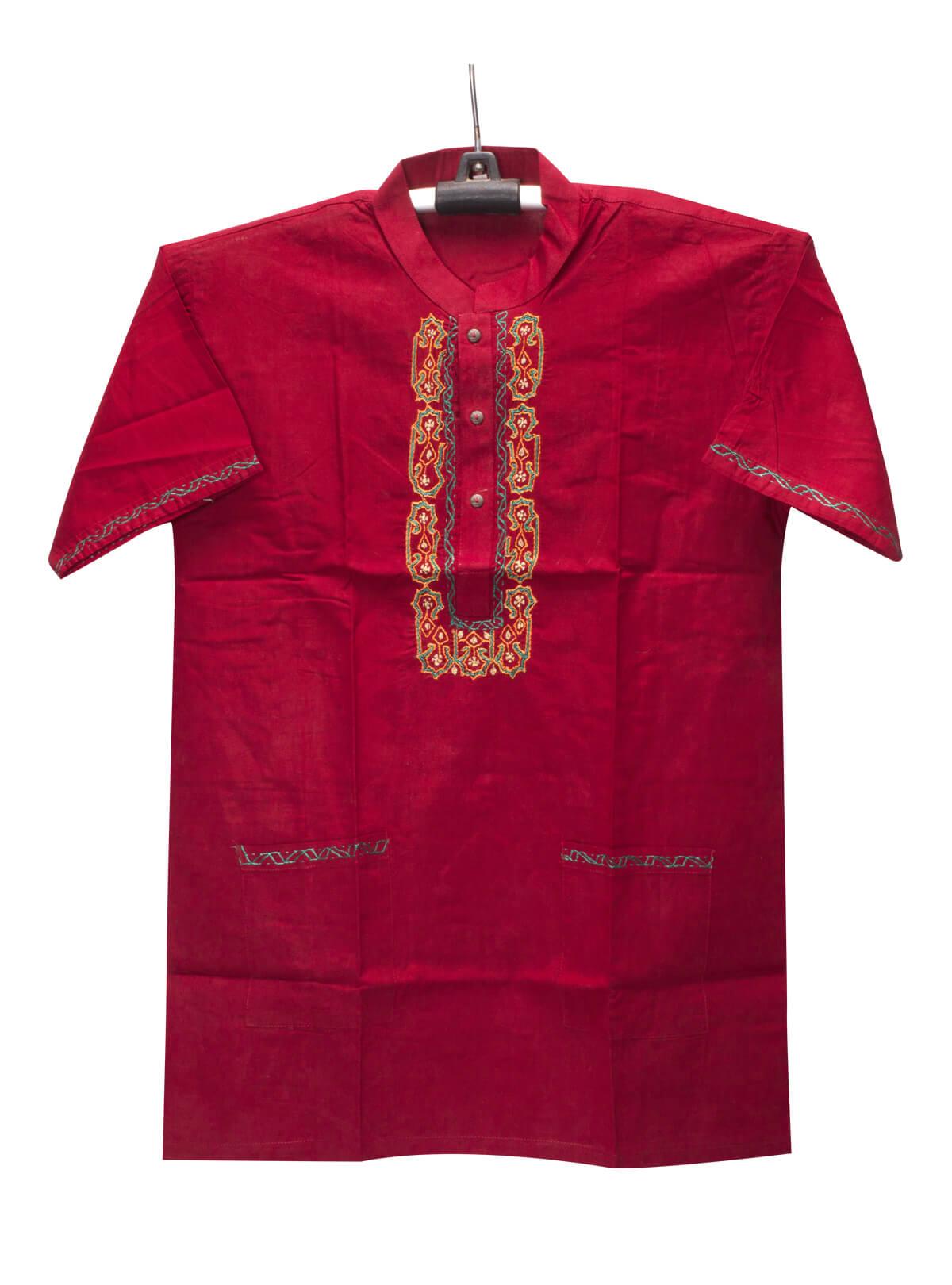 Red Cotton Gents Fotua