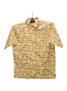 Yellow Cotton Gents Half Shirt