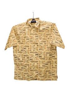 Yellow Cotton Gents Half Shirt