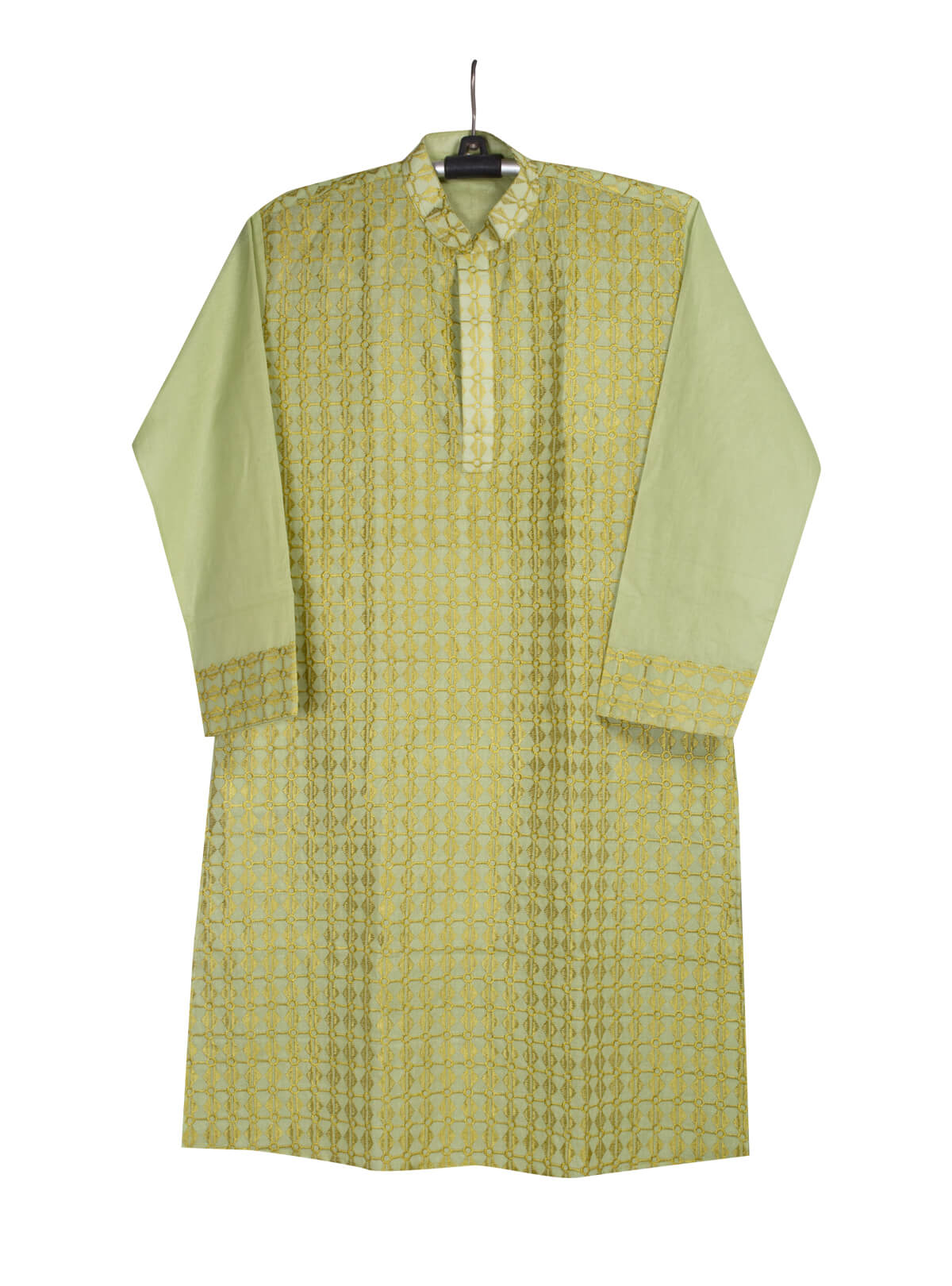 Olive Green Cotton Gents Panjabi