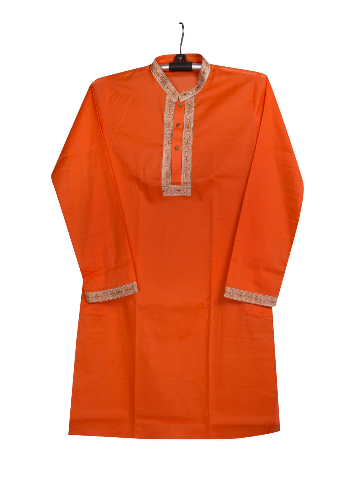 Orange Cotton Gents Panjabi