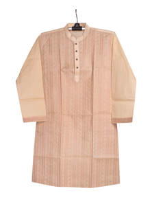 Cream Cotton Gents Panjabi