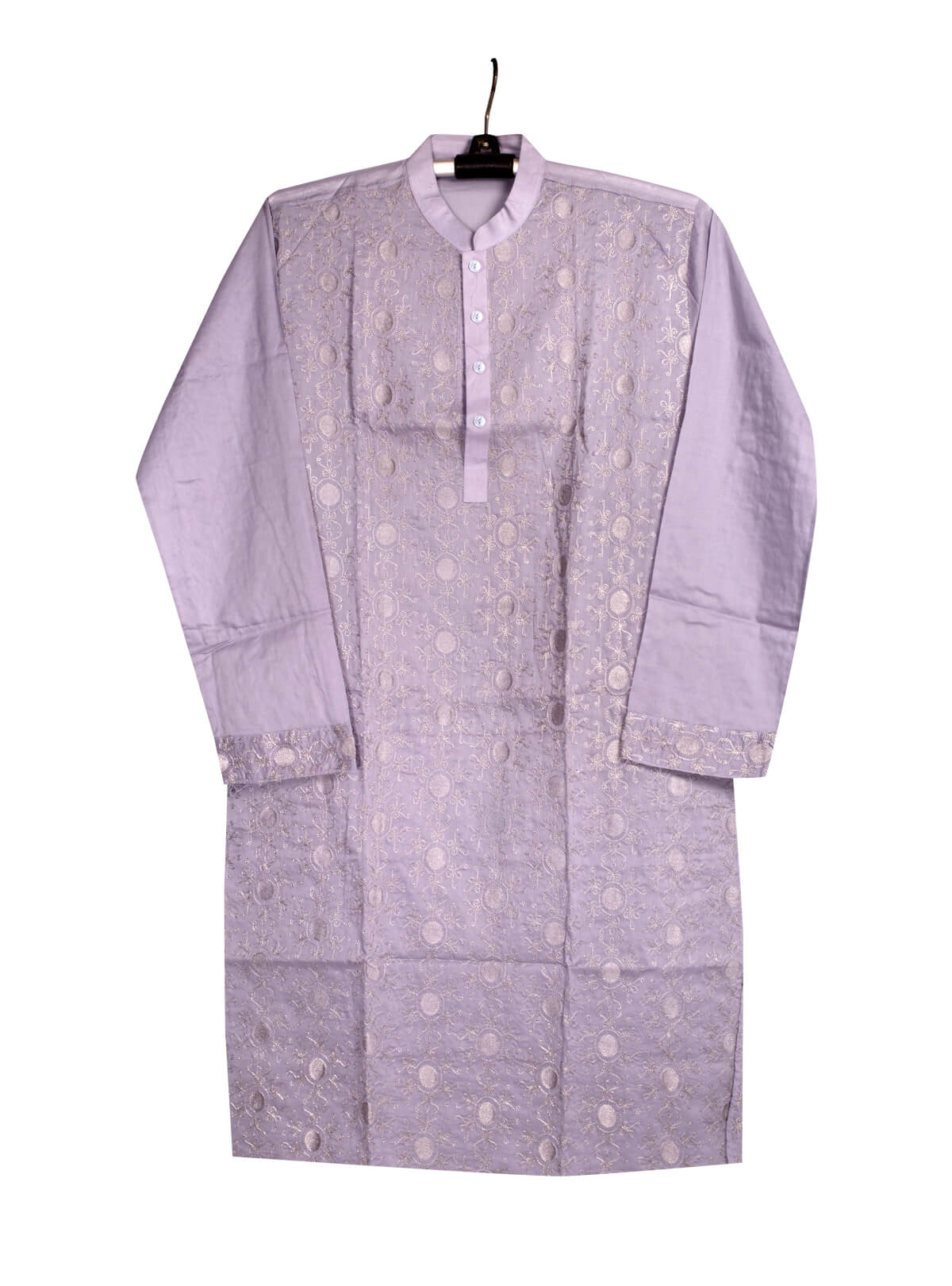 Light Purple Cotton Gents Panjabi