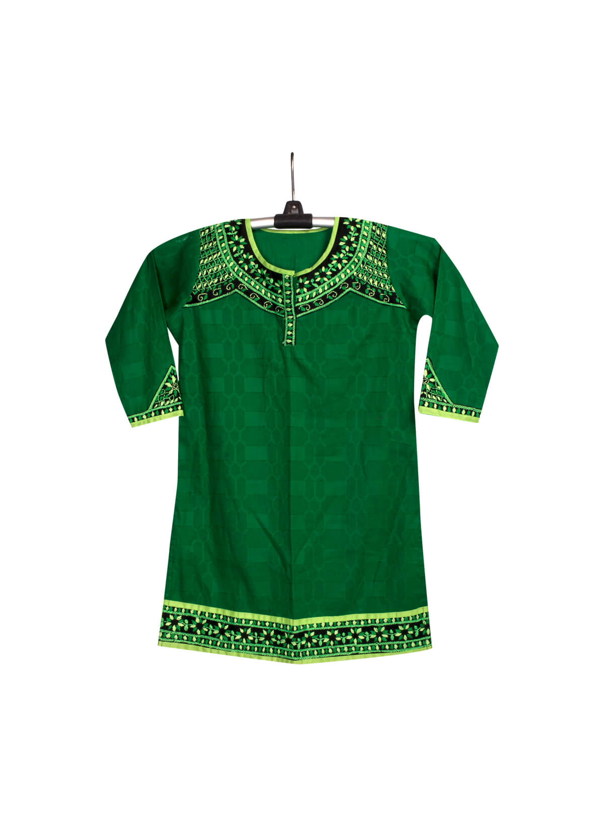 Green Cotton Baby Single Kameez