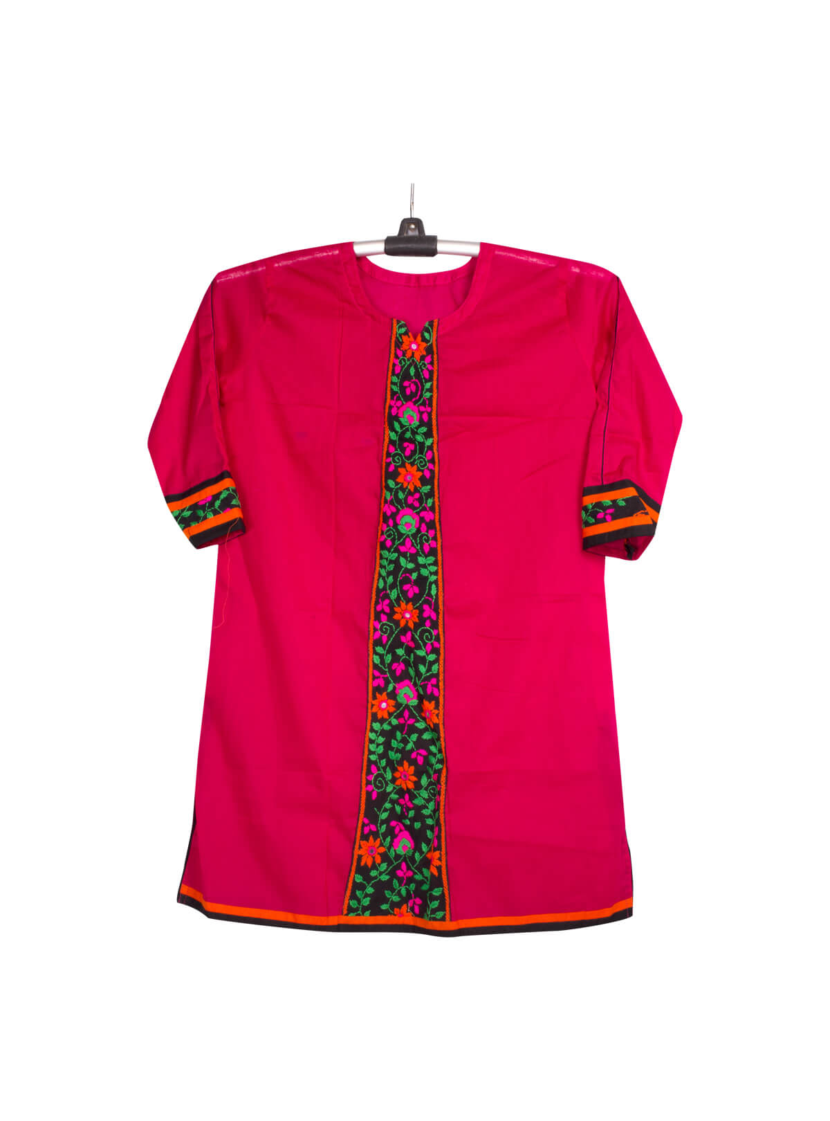 Red Cotton Baby Single Kameez