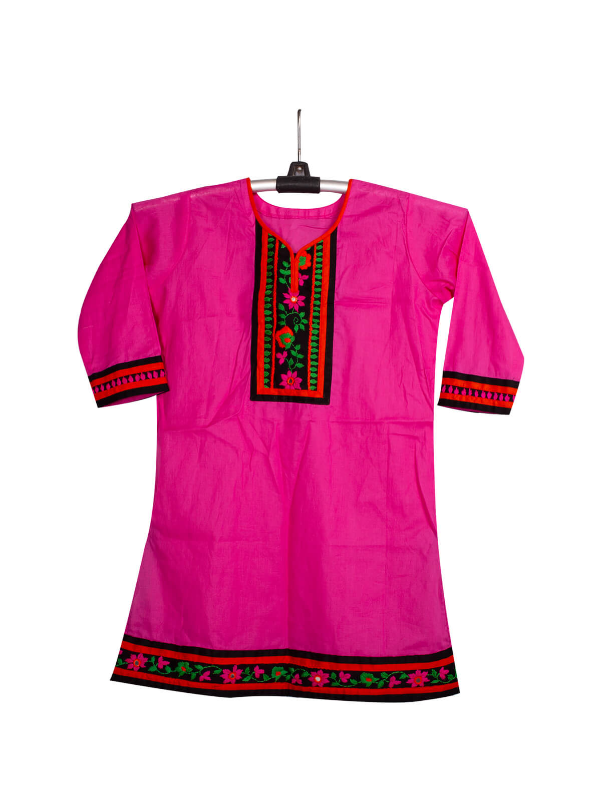 Pink Cotton Baby Single Kameez