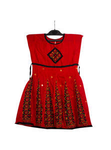 Red Cotton Baby Frock