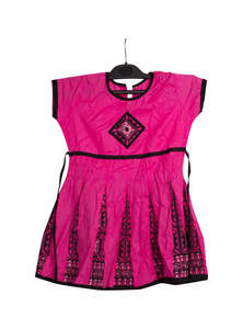 Pink Cotton Baby Frock