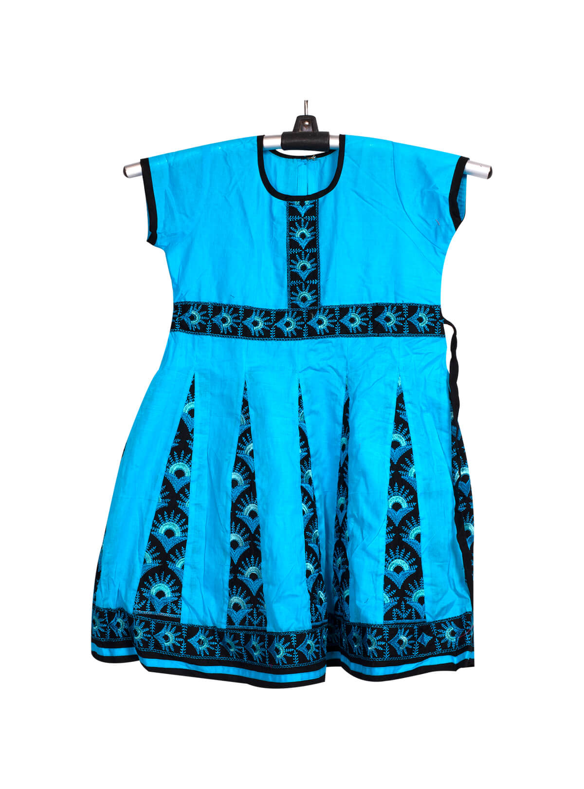 Blue Cotton Baby Frock
