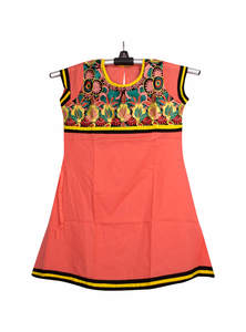 Orange Cotton Baby Frock