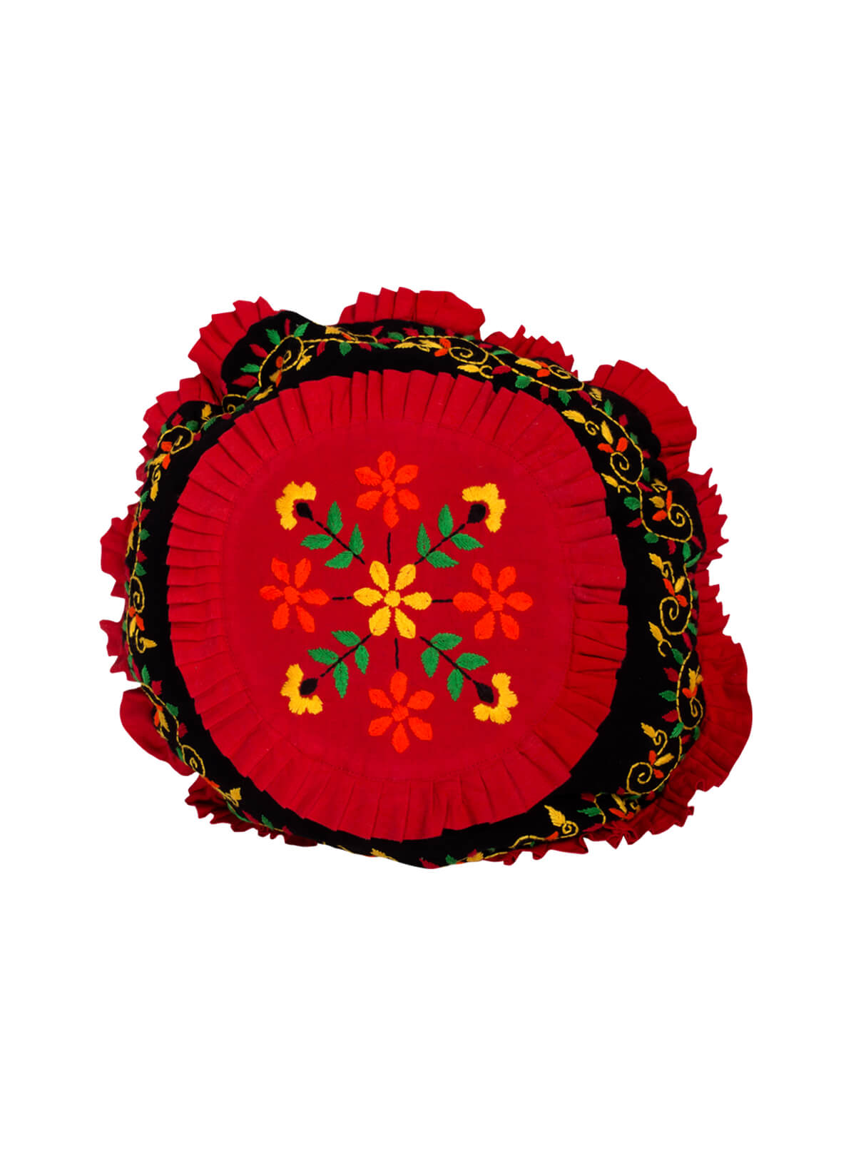 Black & Red Cotton Mosquito Cushion