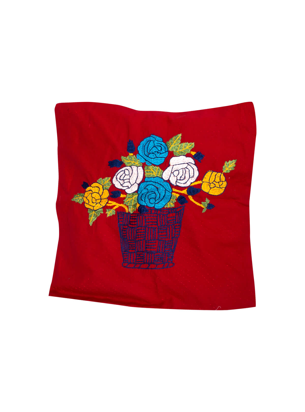 Red Cotton Cushion Covers