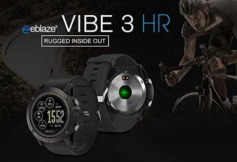 Zeblaze VIBE 3 HR 1.22 inch Sports Smart Watch - (Full Black, Silver-Blue)