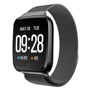 HuaWise Y7 Smart Watch(Magnetic Strap)--- Black