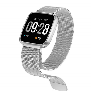 HuaWise Y7 Smart Watch(Magnetic Strap)--- Silver