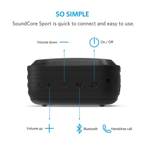 ANKER SoundCore Sport Bluetooth Speaker (18 Months Official Warranty)