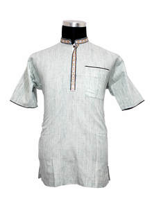 Off White Handwork Cotton Gents Fatua