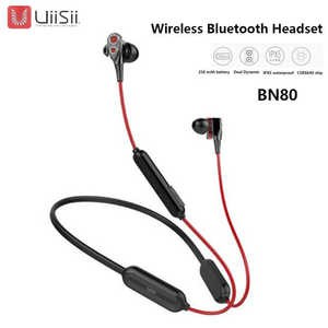 UiiSii BN80 Wireless Bluetooth Headset Dynamic In-Ear Waterproof Earphone - Black