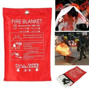 Emergency Fireproof Coatings 1 mx 1 m 100% Glass Fiber for Fire Extinguishing Home