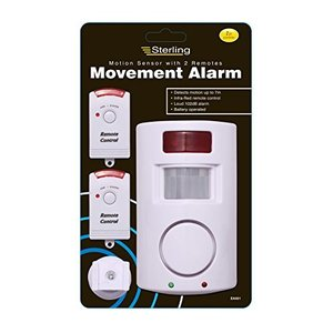 Wireless Remote control IR infrared motion Sensor detector loud siren for home security Anti-Theft