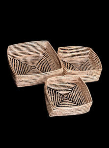 Palm Fiber Square Box