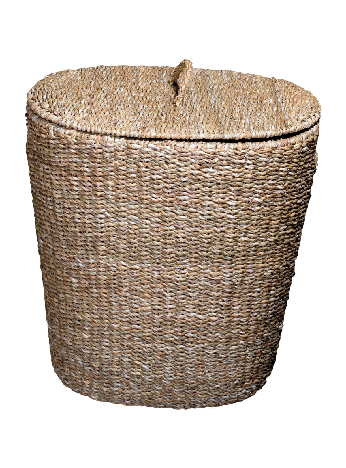 Palm Fiber Oval Laundry Basket