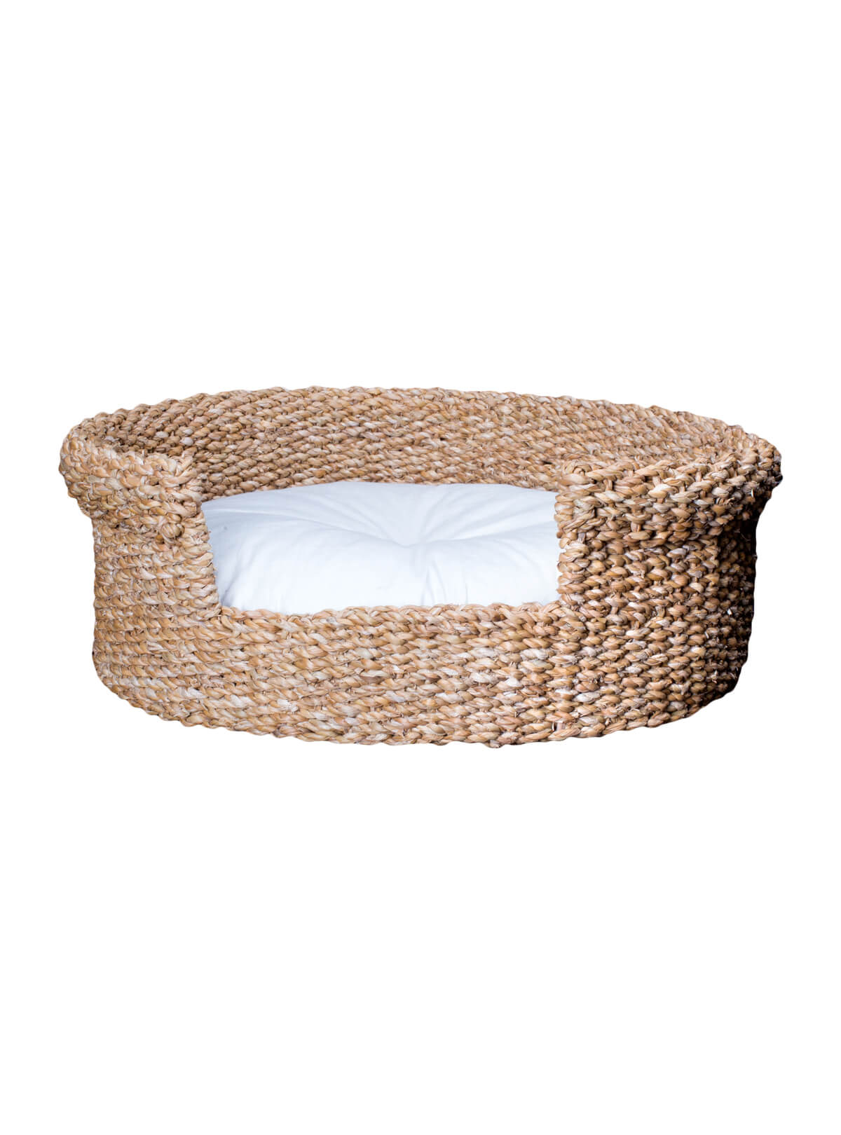 Sea Grass Cat Basket With Pillow
