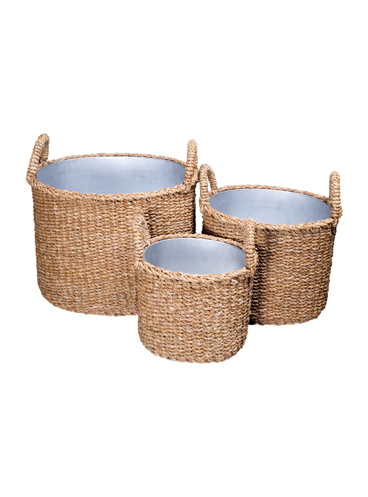 Sea Grass Tin Basket