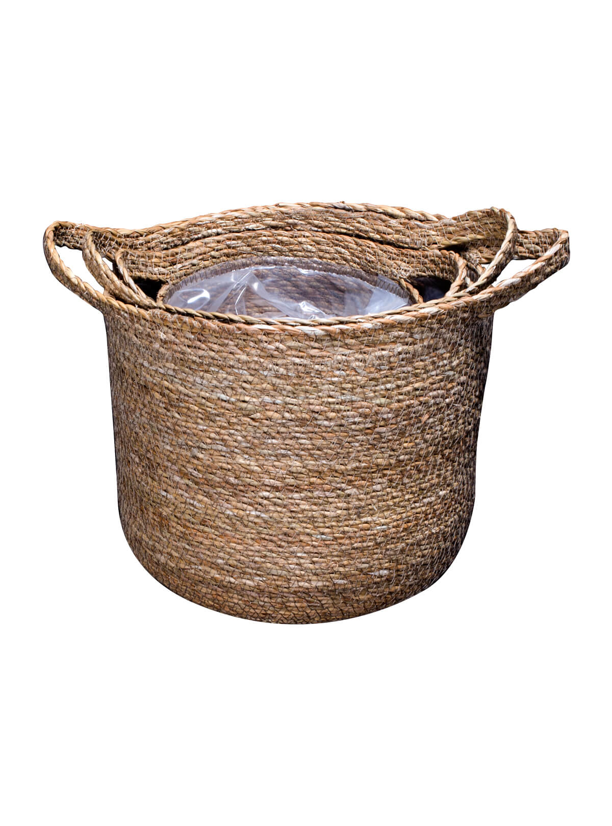 Sea Grass Plastic Cylinder Basket