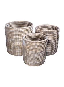 Sun Grass Cylinder Basket