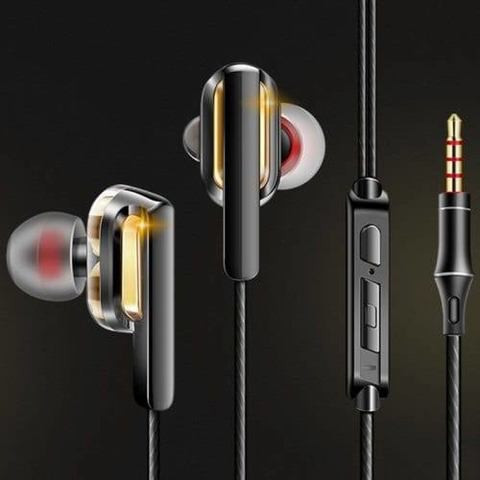 QKZ CK3 Double Moving Coil Headset In-ear Sport Earbuds 3.5mm Wired Headphones Heavy Bass Music Earphones In-line Control with Mic Volume Control Storage Box