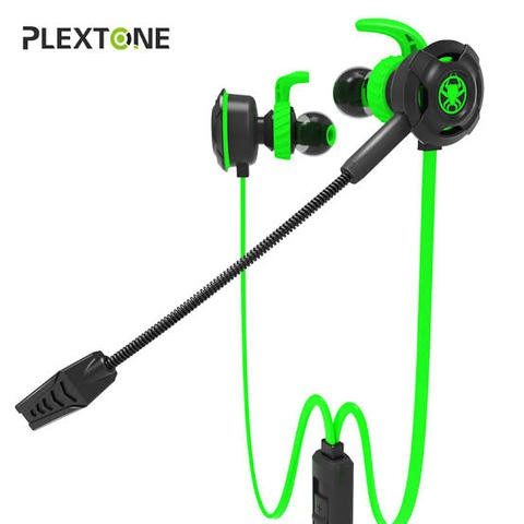 Plextone G30 PC Gaming Headset With Microphone In Ear Bass Noise Cancelling Earphone With Mic For Phone Computer Gamer PS4