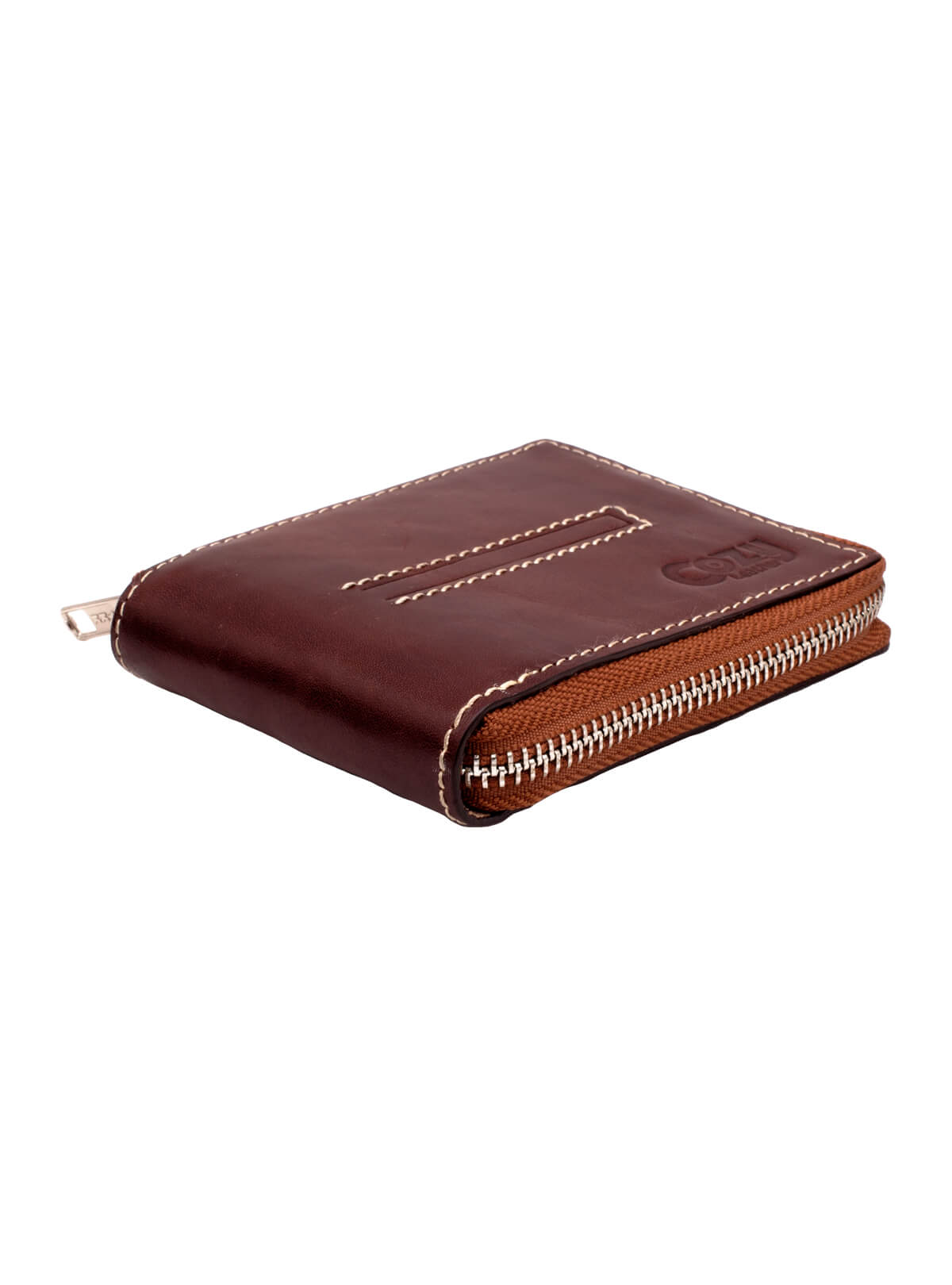 Maroon Leather Chain Wallet