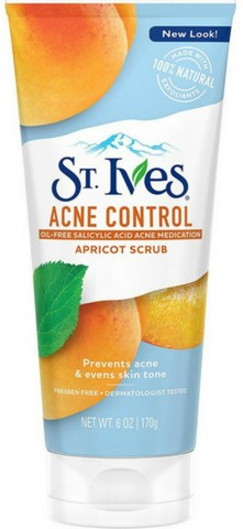 St. Ives Acne Control Apricot Face Scrub, 6 oz
