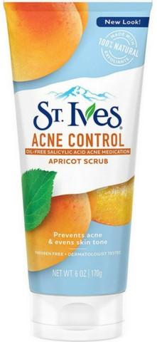 St. Ives Acne Control Apricot Face Scrub, 6 oz
