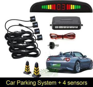 Car Parking Sensor with 4 Sensor s Reverse Backup Parking Radar Monitor Detector System Backlight Display