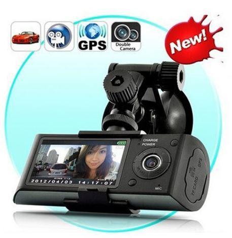 Dual Car Camera DVR R300 with GPS and 3D G-Sensor 2.7