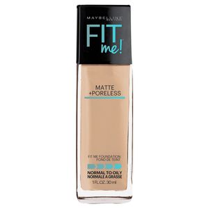 Maybelline FIT ME! Matte + Poreless Foundation - Light Shades - 1.0 fl oz color 118 Light Beige