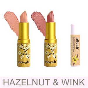Hazelnut & Wink Lipstick (by Noyah)