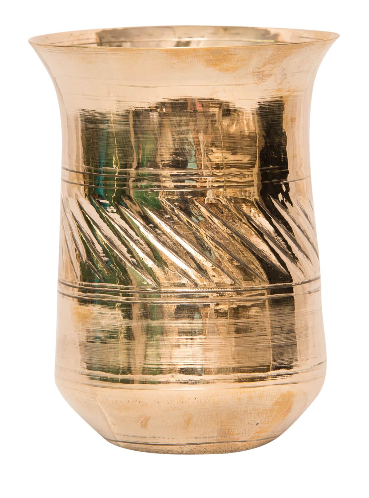 Golden Color Bel-Metal Glass