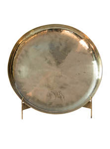 Golden Color Bel-Metal Small Bogi Plate