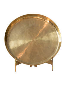 Golden Color Bel-Metal Bogi Plate