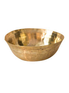 Golden Color Bel-Metal Small Gas Bowl