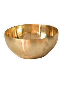 Golden Color Bel-Metal Dinner Bowl
