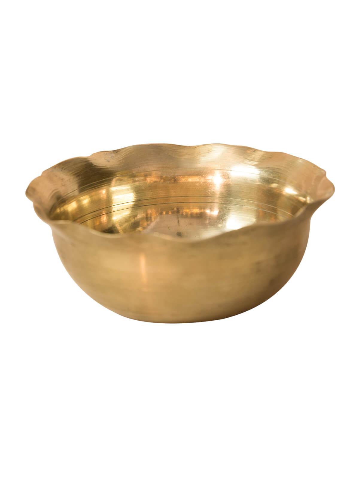 Golden Color Bel-Metal Dinner Bowl