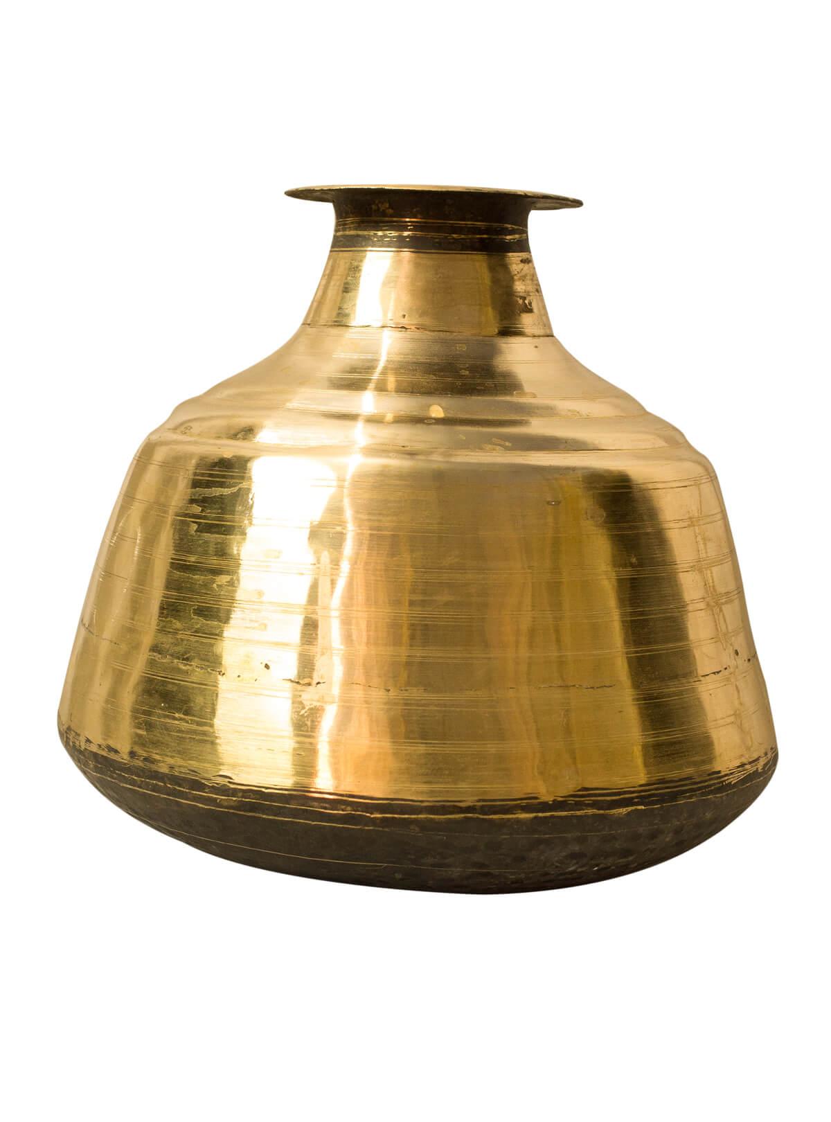 Golden Color Bel-Metal Sorbosundori Pitcher/ Water Jar
