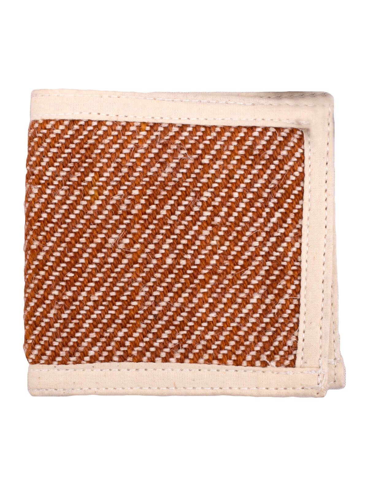 Rich Gold Orange & White Jute Wallet