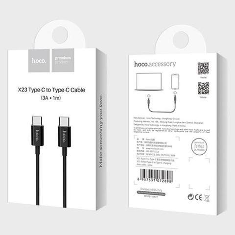 Hoco X23 Skilled» charging data Type-C to Type C