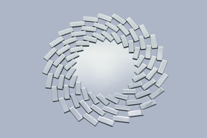 Decorative Spiral Prism Mirror